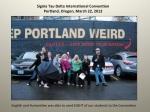 Student trip to Porland, 2013